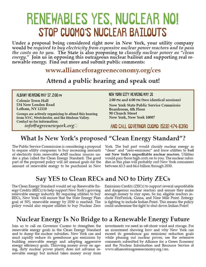flyer for 2 Energy Hearings