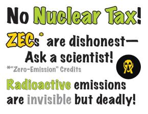 Speak Out! No Money for Nuclear Power in the Clean Energy Standards!!!