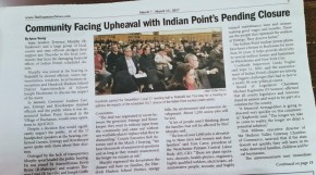 """Community Facing Upheaval with Indian Point's Pending Closure"""