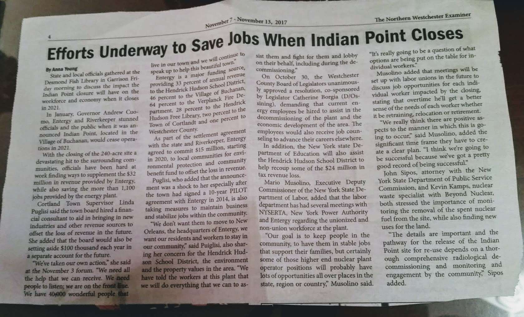 """Examiner News"""" Reports on Job-Saving Efforts 